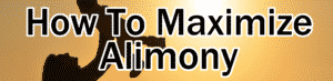 how to maximize alimony